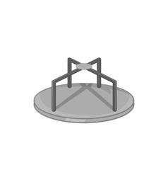 Merry go round icon black monochrome style vector image