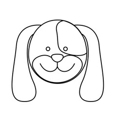monochrome blurred contour with male dog head vector image