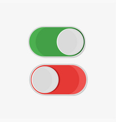 on and off button in flat style on a white vector image