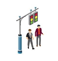 people walking down street vector image