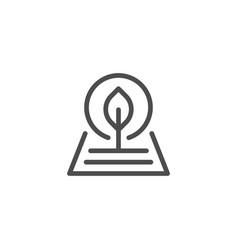 Plant line icon vector