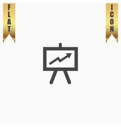 Presentation billboard icon symbol Flat modern web vector