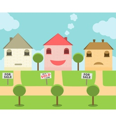 Real State Sold House vector
