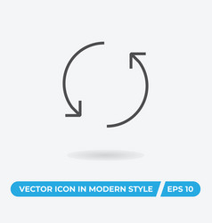 rotate icon simple car sign vector image