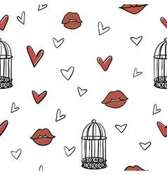 seamless romantic elements pattern vector image
