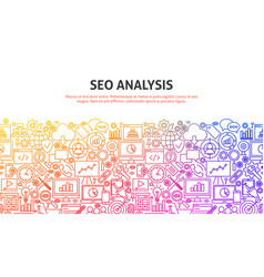 seo analysis concept vector image