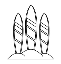 Serfing board icon outline style vector