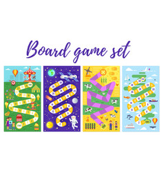 Set of kids boardgame vector
