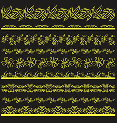 set of lace paper with flower and decorative vector image