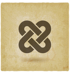Solomon knot vintage background vector