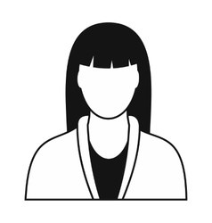 Spa massage therapist icon vector