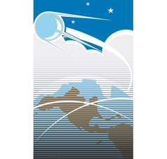 Sputnik in orbit vector