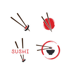 sushi logo template vector image
