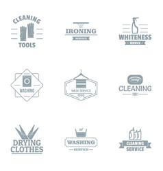 sweep logo set simple style vector image