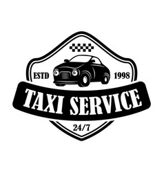 taxi service emblem template design element vector image