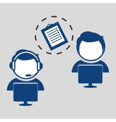 Technical service call center icon support vector
