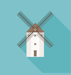 traditional spain wind mill vector image