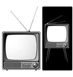 two retro tvs vector image