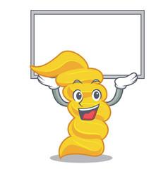 up board fusilli pasta character cartoon vector image