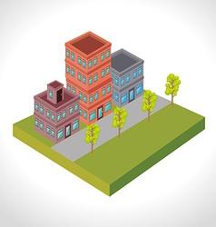Urban buildings graphic vector