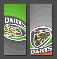 Vertical banners for darts vector