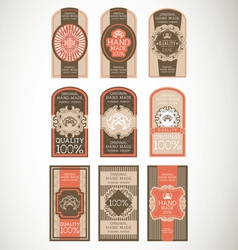 Vintage label Style with nine Design Element vector image