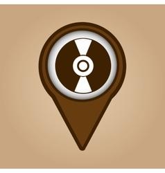 vintage vynil disk symbol design vector image