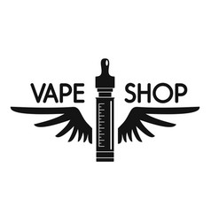 wings vape shop logo simple style vector image