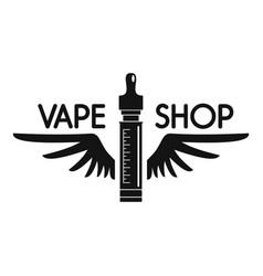 Wings vape shop logo simple style vector