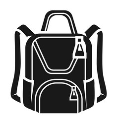 womens backpack in front icon simple style vector image