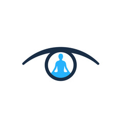 Yoga eye logo icon design vector