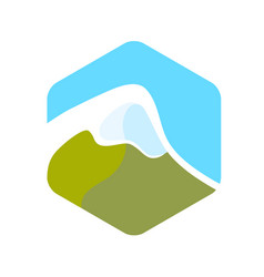 beautiful logo with alps vector image vector image