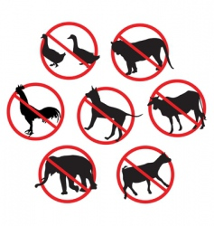 beware animals vector image