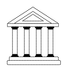 building with columns icon vector image vector image