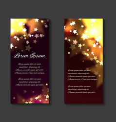 Festive leaflets flyers brochure template vector