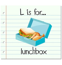 Flashcard letter L is for lunchbox vector image vector image