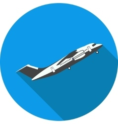 flat icon plane takes off vector image