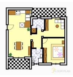 Floor plan vector image