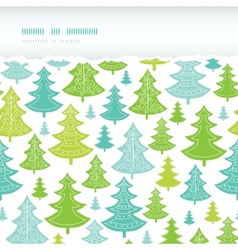 Holiday Christmas trees horizontal torn seamless vector image