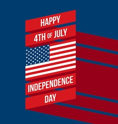 Independence day poster flat design vector image vector image