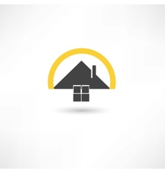 simple house vector image