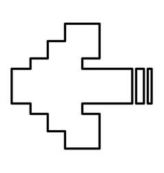 arrows pixel vector image vector image