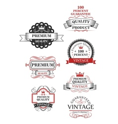 Premium quality label collection vector image vector image