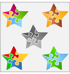 Puzzle Star vector image vector image