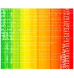 rainbow technology vector image vector image