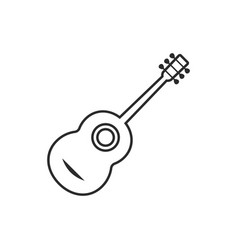 thin line classical guitar vector image