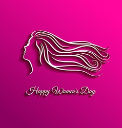 Beautiful long hair for international women day vector image vector image