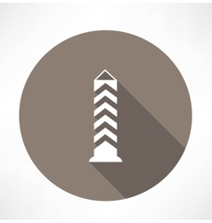 boundary post pillar icon vector image
