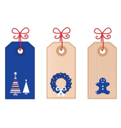 christmas retro tags vector image