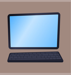 desktop computer technology isolated icon vector image vector image